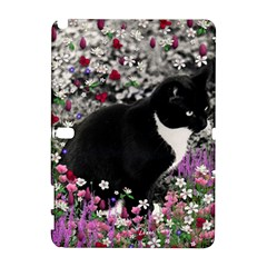 Freckles In Flowers Ii, Black White Tux Cat Samsung Galaxy Note 10 1 (p600) Hardshell Case by DianeClancy