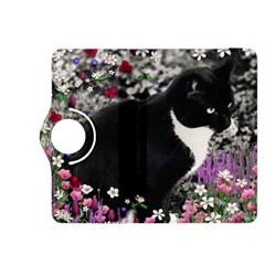 Freckles In Flowers Ii, Black White Tux Cat Kindle Fire Hdx 8 9  Flip 360 Case by DianeClancy