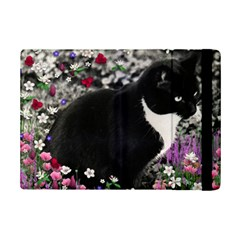 Freckles In Flowers Ii, Black White Tux Cat Ipad Mini 2 Flip Cases by DianeClancy
