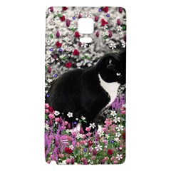 Freckles In Flowers Ii, Black White Tux Cat Galaxy Note 4 Back Case by DianeClancy
