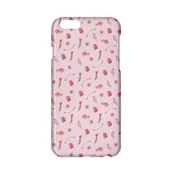 Cute Pink Birds And Flowers Pattern Apple Iphone 6/6s Hardshell Case by TastefulDesigns