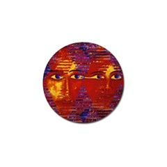 Conundrum Iii, Abstract Purple & Orange Goddess Golf Ball Marker (10 Pack) by DianeClancy