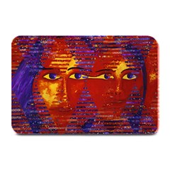 Conundrum Iii, Abstract Purple & Orange Goddess Plate Mats by DianeClancy