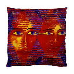 Conundrum Iii, Abstract Purple & Orange Goddess Standard Cushion Case (one Side) by DianeClancy