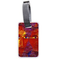 Conundrum Iii, Abstract Purple & Orange Goddess Luggage Tags (one Side)  by DianeClancy