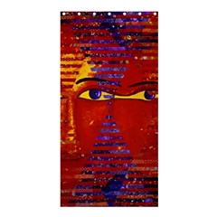 Conundrum Iii, Abstract Purple & Orange Goddess Shower Curtain 36  X 72  (stall)  by DianeClancy