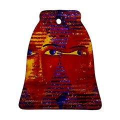 Conundrum Iii, Abstract Purple & Orange Goddess Bell Ornament (2 Sides) by DianeClancy