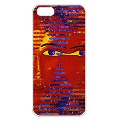 Conundrum Iii, Abstract Purple & Orange Goddess Apple Iphone 5 Seamless Case (white) by DianeClancy