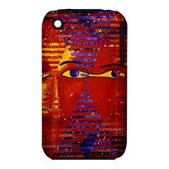 Conundrum Iii, Abstract Purple & Orange Goddess Apple Iphone 3g/3gs Hardshell Case (pc+silicone) by DianeClancy
