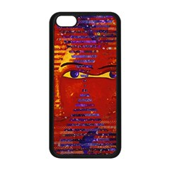 Conundrum Iii, Abstract Purple & Orange Goddess Apple Iphone 5c Seamless Case (black) by DianeClancy