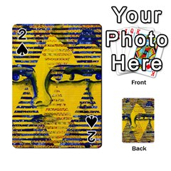 Conundrum Ii, Abstract Golden & Sapphire Goddess Playing Cards 54 Designs  by DianeClancy