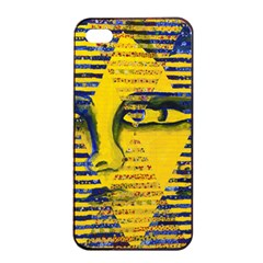 Conundrum Ii, Abstract Golden & Sapphire Goddess Apple Iphone 4/4s Seamless Case (black) by DianeClancy