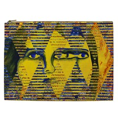 Conundrum Ii, Abstract Golden & Sapphire Goddess Cosmetic Bag (xxl)  by DianeClancy