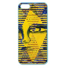 Conundrum Ii, Abstract Golden & Sapphire Goddess Apple Seamless Iphone 5 Case (color) by DianeClancy