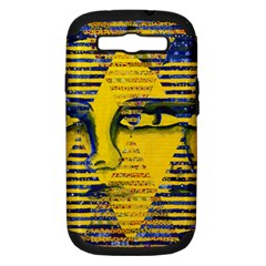 Conundrum Ii, Abstract Golden & Sapphire Goddess Samsung Galaxy S Iii Hardshell Case (pc+silicone) by DianeClancy