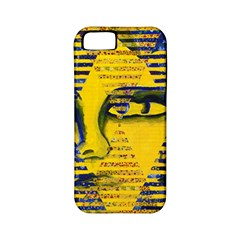 Conundrum Ii, Abstract Golden & Sapphire Goddess Apple Iphone 5 Classic Hardshell Case (pc+silicone) by DianeClancy