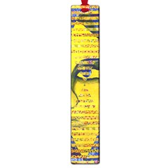 Conundrum Ii, Abstract Golden & Sapphire Goddess Large Book Marks by DianeClancy