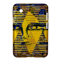 Conundrum Ii, Abstract Golden & Sapphire Goddess Samsung Galaxy Tab 2 (7 ) P3100 Hardshell Case  by DianeClancy