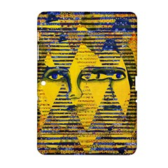 Conundrum Ii, Abstract Golden & Sapphire Goddess Samsung Galaxy Tab 2 (10 1 ) P5100 Hardshell Case  by DianeClancy