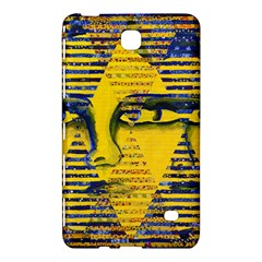 Conundrum Ii, Abstract Golden & Sapphire Goddess Samsung Galaxy Tab 4 (8 ) Hardshell Case  by DianeClancy