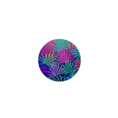 Colored Palm Leaves Background 1  Mini Magnets by TastefulDesigns