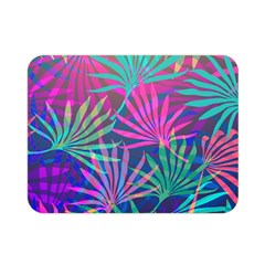 Colored Palm Leaves Background Double Sided Flano Blanket (mini)  by TastefulDesigns