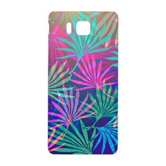 Colored Palm Leaves Background Samsung Galaxy Alpha Hardshell Back Case by TastefulDesigns