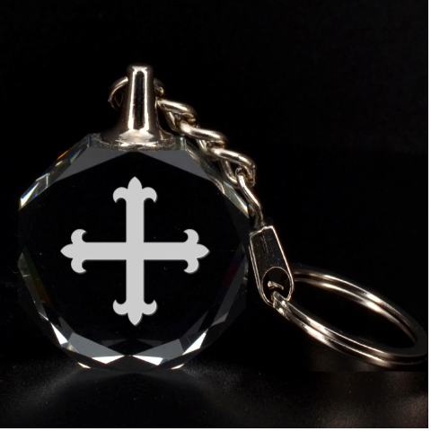 Engraved Flory Cross By Rd   3d Engraving Circle Key Chain   Ie2ir42lnmn6   Www Artscow Com Front