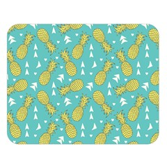 Summer Pineapples Fruit Pattern Double Sided Flano Blanket (Large)  by TastefulDesigns