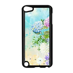 Watercolor Fresh Flowery Background Apple Ipod Touch 5 Case (black) by TastefulDesigns