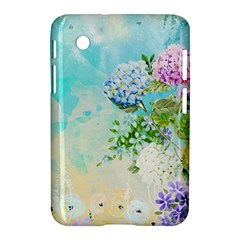Watercolor Fresh Flowery Background Samsung Galaxy Tab 2 (7 ) P3100 Hardshell Case  by TastefulDesigns