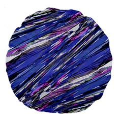 Abstract Collage Print Large 18  Premium Round Cushions by dflcprints