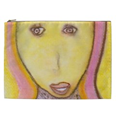 Portrait Of Archangel Michael, Spiritual Chalks Drawing Cosmetic Bag (xxl)  by yoursparklingshop