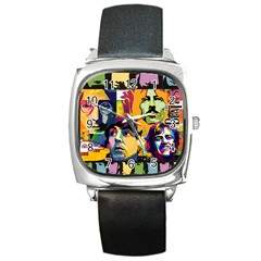 Beatles Square Leather Watch by DryInk