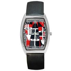Selknam02 Tonneau Leather Watch by DryInk