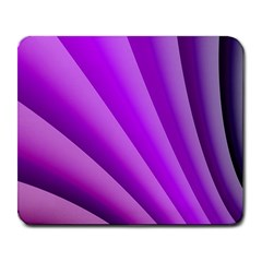 Gentle Folds Of Purple Large Mousepads by FunWithFibro