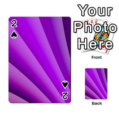 Gentle Folds Of Purple Playing Cards 54 Designs  by FunWithFibro