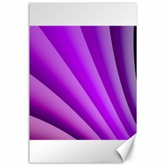 Gentle Folds Of Purple Canvas 24  X 36  by FunWithFibro