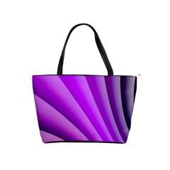 Gentle Folds Of Purple Shoulder Handbags by FunWithFibro