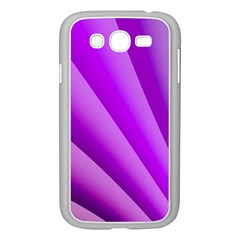 Gentle Folds Of Purple Samsung Galaxy Grand Duos I9082 Case (white) by FunWithFibro