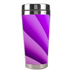 Gentle Folds Of Purple Stainless Steel Travel Tumblers by FunWithFibro