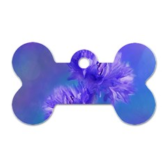 Flowers Cornflower Floral Chic Stylish Purple  Dog Tag Bone (two Sides) by yoursparklingshop