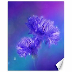 Flowers Cornflower Floral Chic Stylish Purple  Canvas 11  X 14   by yoursparklingshop