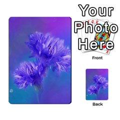 Flowers Cornflower Floral Chic Stylish Purple  Multi Purpose Cards (rectangle)  by yoursparklingshop