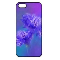 Flowers Cornflower Floral Chic Stylish Purple  Apple Iphone 5 Seamless Case (black) by yoursparklingshop