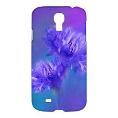 Flowers Cornflower Floral Chic Stylish Purple  Samsung Galaxy S4 I9500/i9505 Hardshell Case by yoursparklingshop