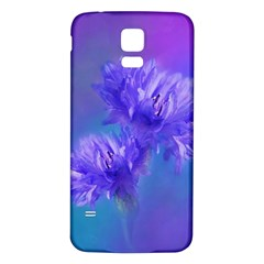 Flowers Cornflower Floral Chic Stylish Purple  Samsung Galaxy S5 Back Case (white) by yoursparklingshop