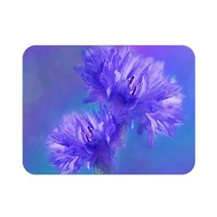 Flowers Cornflower Floral Chic Stylish Purple  Double Sided Flano Blanket (mini)  by yoursparklingshop