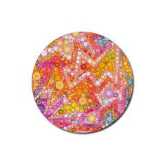 Sunshine Bubbles Rubber Round Coaster (4 Pack)  by KirstenStar