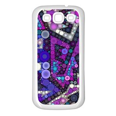 Hipster Bubbes Samsung Galaxy S3 Back Case (white) by KirstenStar